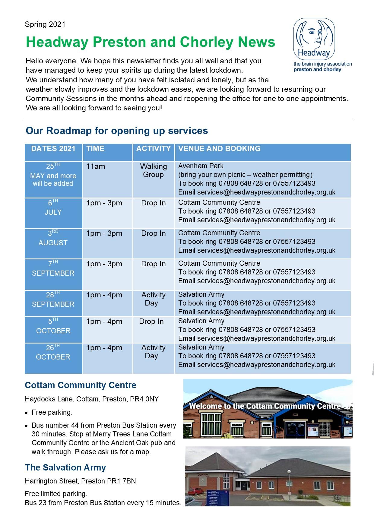 Headway Preston Spring News